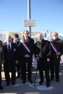 M.Palmisano, M. de Miol-Flavard, M. Teissier, député et M. Burroni, député maire.